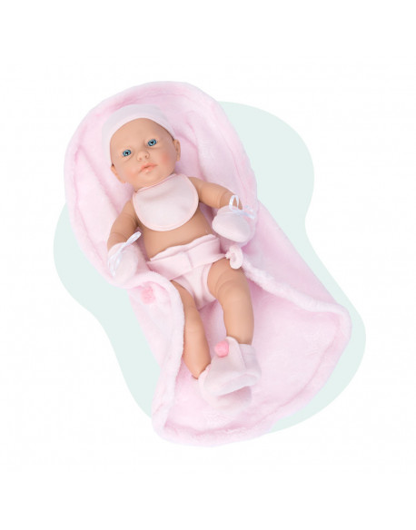 Rn new born baby niña babero manta