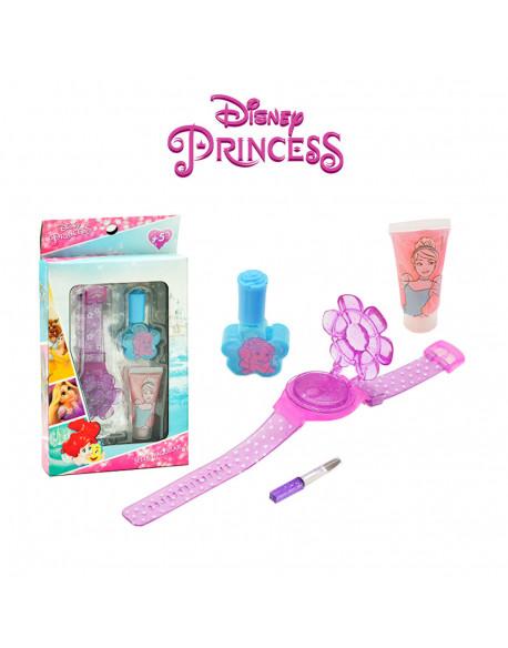 Kit cosmética uñas 4 pzs princesas
