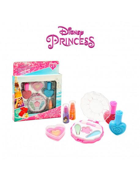 Kit cosmética med 6pzs corazón princesas