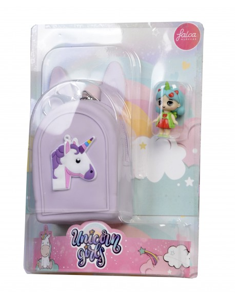 Blister monedero con unicorn girls