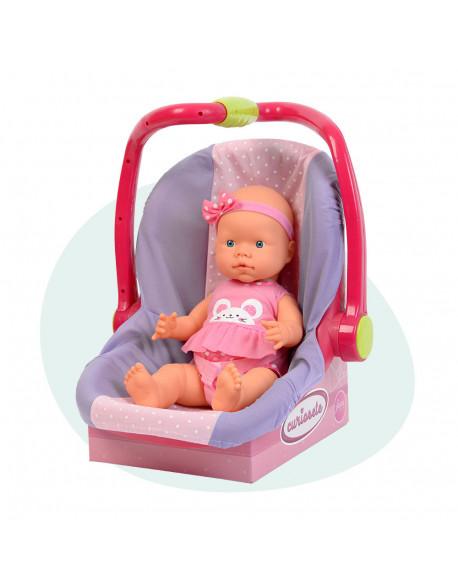 Curiosete muñeca con porta bebe